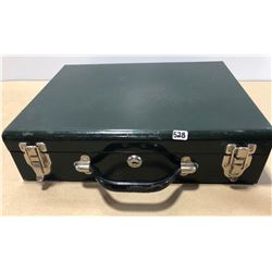 METAL DOUBLE HAND GUN CASE WITH KEY