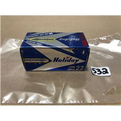 AMMO: 50 X HOLIDAY .22 - COLLECTIBLE BOX