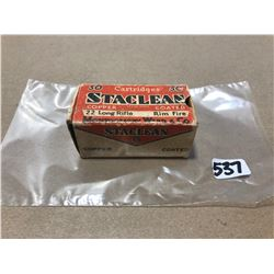 AMMO:  50 X STACLEAN .22 LR RIM FIRE - COLLECTIBLE BOX