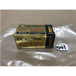 AMMO: 50 X MASTERCRAFT .22 LR - SEALED BOX