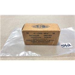 AMMO: 50 X CIL .22 LR - COLLECTIBLE BOX
