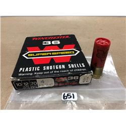 """AMMO: 10X WINCHESTER SUPERSPEED NO 4 2 3/4"""""""