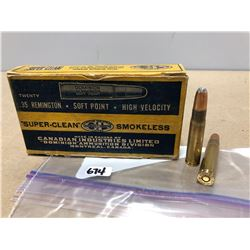 AMMO:  20 X DOMINION .35 REM 200 GR - IN COLLECTIBLE BOX