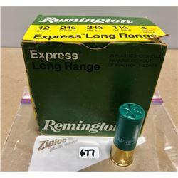 "AMMO: 25 X 12 GA REM EXP LONG RANGE 2 3/4"" 4 SHOT"