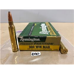 AMMO: 20 X REMINGTON PARTITION .300 WIN MAG 180 GR