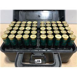 AMMO: 100 X 12 GA - ? RELOADS IN PLASTIC AMMO BOX