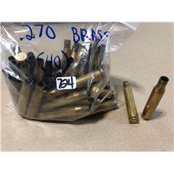 BRASS:  40 X .270