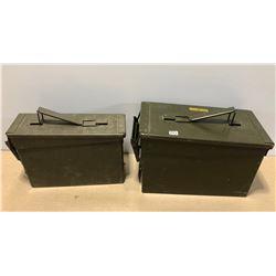 2 X METAL MILITARY AMMO BOXES
