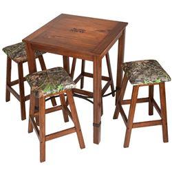 Pub Table & 4 Barstools w/ Camo Seats