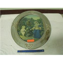 oval picture & frame