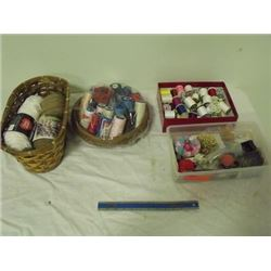 Sewing supplies, quilting thread