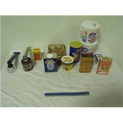 asst'd tins and sprayers