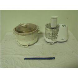 food processor, crock pot