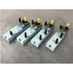 (4) SIEMENS 6GT2002-0EF00 COMMS MODULE W/ 6ES7 194-3AA00-0BA0 TERMINAL BLOCK