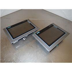 (2) SIEMENS 1P 6AV2 124-0JC01-0AX0 SIMATIC HMI