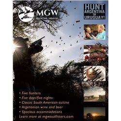 Argentina - Uruguay Dove Hunt, 5 Days/5 Nights, 5 Hunters, Luxury Accommodations