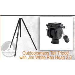Outdoorsmans Tall Tripod & Jim White Pan Head 2.0