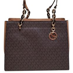 Michael Kors Sofia Lg Shoulder Tote / Brown