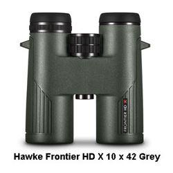 Hawke Frontier HD X 10x42 Binocular (Grey)
