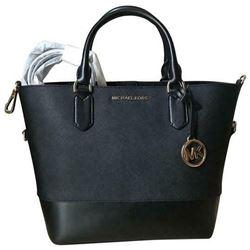 Michael Kors Trista Lg Leather Grab Bag Tote / Black