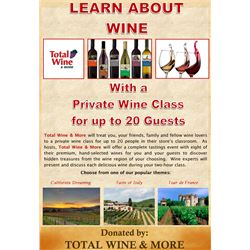 Total Wine & More Private Wine Class for 20