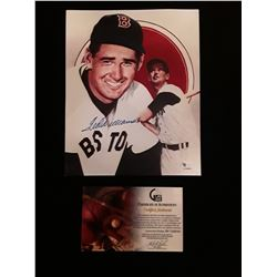 Ted Williams Signed Autograph Photo W/Global COA Boston Red Sox