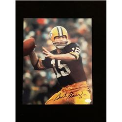 Bart Starr Signed Autograph Photo W/Mounted Memories COA