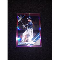 2019 Donruss Optic Pink Prizm Freddie Freeman Atlanta Braves
