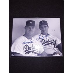 Don Drysdale Sandy Koufax Signed Auotgraph 8x10 Photo W/COA