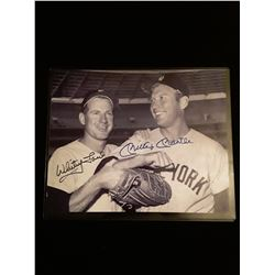 Whitey Ford Mickey Mantle Signed Auotgraph 8x10 Photo W/COA