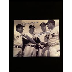 Yogi Berra Mickey Mantle Joe Dimaggio Signed Auotgraph 8x10 Photo W/COA