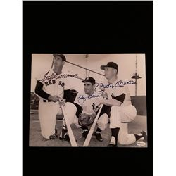 Ted Williams Yogi Berra Mickey Mantle Signed Auotgraph 8x10 Photo W/COA
