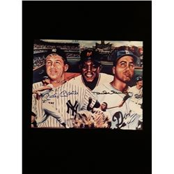 Willie Mays Mickey Mantle Duke Snider