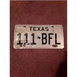 1960's Texas License Plate