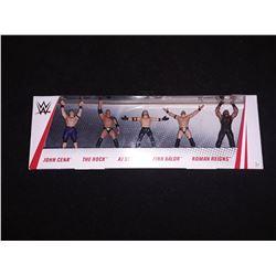 WWE Action Figure 5 Pack John Cena, The Rock, AJ Styles, Finn Baylor, Roman Reigns
