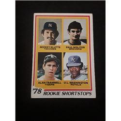 1978 Topps Paul Molitor/ Alan Trammell Rookie Card