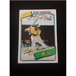 1980 Topps Rickey Henderson Rookie Card