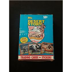 1991 Topps Desert Storm Trading Cards With Special Stickers Blue Box