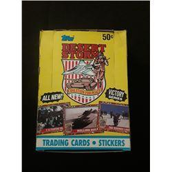 1991 Topps Desert Storm Trading Cards  Yellow Box