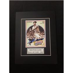 Ted Williams Signed Autograph Matted Photo W/COA