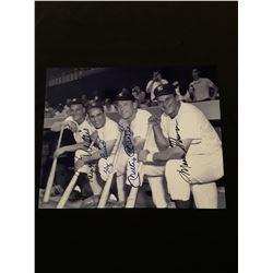 Roger Maris Yogi Berra Mickey Mantle Moose Skowren Signed Autograph 8x10 Photo W/COA