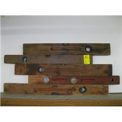 5 WOODEN LEVELS
