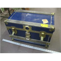 SMALL METAL BOUND CHEST