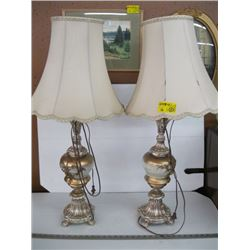 PR OF GOLD BASED LAMPS