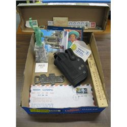 BOX OF MISC, STAMPS, BEATLES OPENER ETC. -1
