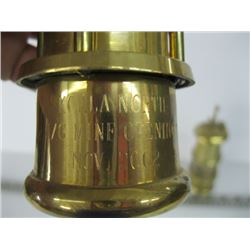 2 BRASS MINERS LAMPS