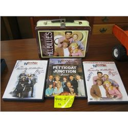 BEVERLY HILLBILLIES LUNCH BOX WITH DVD'S INSIDE