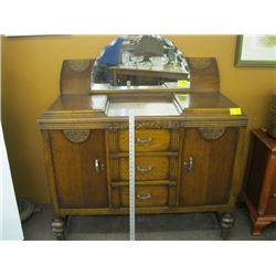 3 DRAWER 2 DOOR SIDEBOARD WITH HALF MOON DOUBLE MIRROR