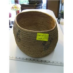 """LARGE NATIVE BASKET APPROX OPENING IS 14"""" X 10"""""""