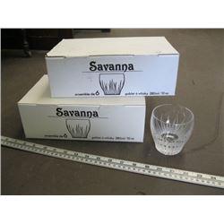 12 SAVANNAH CRYSTAL 10 OZ WHISKEY GLASSES